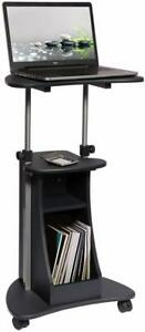 Laptop Cart With Storage Color Graphite New