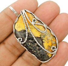 Natural Bumble Bee 925 Solid Sterling Silver Pendant Jewelry Ct33-1