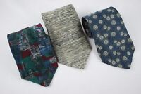 Lot of 3 Ties Various Designs J.T. Beckett 100% Silk Made In USA