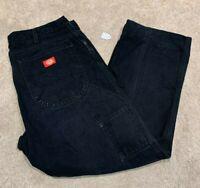 Mens Dickies Denim Black Jeans (Size W38 L30) #L46