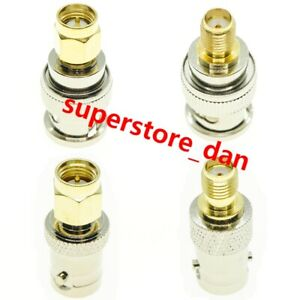4Pcs/Kit set BNC To SMA Type Male Female RF Connector Adapter Test Converter