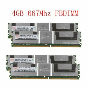 16GB 4 x 4GB DDR2 PC2-5300F 2Rx4 667MHz 240pin ECC FB-DIMM Server RAM For Hynix