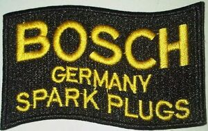Bosch Germany Spark Plugs sew on cloth patch (yy) REDUCED