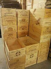 2 x 12 francese bottiglia originale in legno cassa di Vino Cassetta Fioriera Cesto di stoccaggio