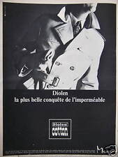 PUBLICITÉ DIOLEN COTTON LA PLUS BELLE CONQUÊTE DE L'IMPERMÉABLE