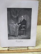Vintage Print,RUFUS KING,Gallery Eminent Americans,Alonzo Chappel,1860-62