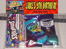 12 Personalised Birthday Party Lolly / Loot Bags with Fireman Sam Print