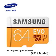 Original SAMSUNG EVO Memory Card Micro SD TF Card 64GB Class10 U3 4K HD 100 MB/s