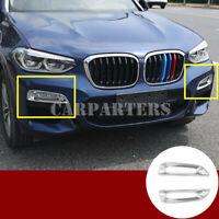 For BMW X3 G01 ABS Chrome Front Fog Light Lamp Trim Cover 2pcs 2018-2019