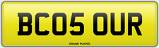 OUR CAR REGISTRATION BC05 OUR NUMBER PLATE FREE ASSIGNMENT BECAUSE OURS SOUR