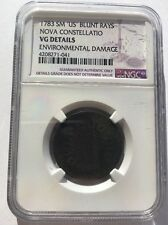 1783 Nova Constellatio Blunt Rays Colonial Copper Cent Coin - NGC Graded!