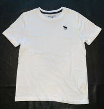Abercrombie Kids Boys Short Sleeve White T-shirt Size 11/12 Free Shipping