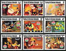 Turks & Caicos 442-450, Mnh. Scenes from Walt Disney's Pinocchio, 1980