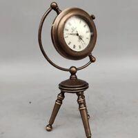 Exquisite Brass Classical Mechanical  A-frame Clock