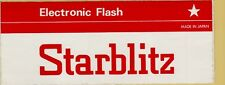 ADESIVO LABEL STICKER VINTAGE ELECTRONIC FLASH MADE IN JAPAN STARBLITZ