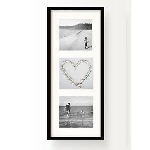 "Oxford Black Multi Aperture Photo Picture Frame Instagram Collage Triple 4x4"""