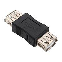 CONNETTORE CON 2 PRESE USB FEMMINA ACCOPPIATORE PROLUNGA CAVO USB ADATTATORE PC