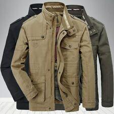 mens Cotton jacket Windbreaker Military Jackets Army Outwear Flight Jacket