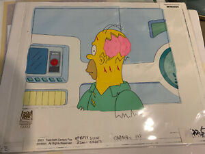 The Simpsons ORIGINAL ANIMATION FRAME TREEHOUSE OF HORROR HOMER CEL ART