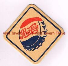 1950s Diamond Shaped Square Pepsi Cola 3½ inch coaster Tavern Trove