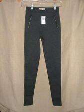 Hollister gray textured legging pants zipper pockets Super Cute! skinny XS NWT
