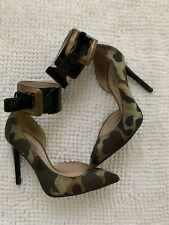 Guess Marciano Camouflage Ankle Strap Pumps High Heels 35 5