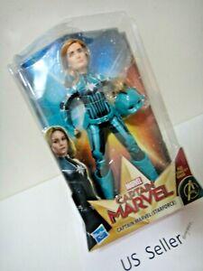 "New Marvel Captain Marvel (Starforce) Super Hero 11"" Doll with Helmet Accessory"