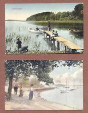 Vintage Danish Scenes,  Langelinie,  Furesoen  Children boats,  yachts    RK939