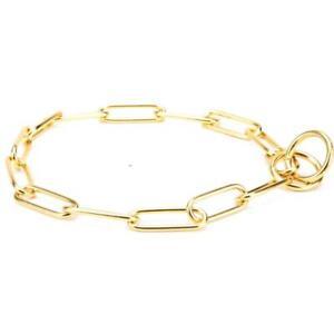 Brass Dog Chain Dog Choker Chain Gold Choke Chain Collar Of 4 mm Wire Gauge
