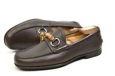 GUCCI Loafer Bamboo bit made in Italy 6.5uk / US7 / 40.5 shoes 295635 moccasins