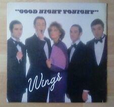 "WINGS  - (PAUL McCARTNEY) 12"" Single - Goodnight Tonight, 1979,EX+"