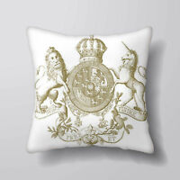 English Crest - Printed Cushion Covers Pillow Cases Home Decor or Inner