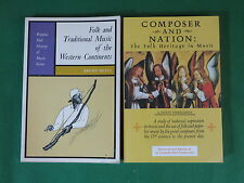 Lot of 2 Books On Folk Music COMPOSER AND NATION/FOLK AND TRADITIONAL MUSIC