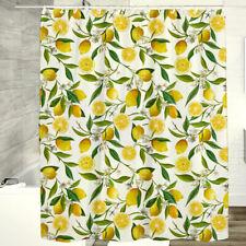 Washable Waterproof Polyester Lemon Gardenia Shower Curtain Bathroom Decor