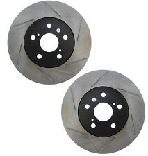 Pair Set of 2 Front Stoptech Slot Disc Brake Rotors for Lexus IS250 Toyota Camry