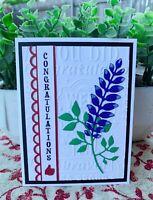 Graduation Card Handmade Greeting Card Congratulations Maroon Bluebonnets