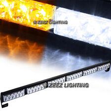 36 Amber&White LED Traffic Advisor Emergency Warning Flash Strobe Light Bar C01