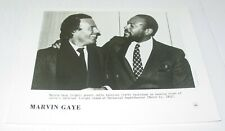Marvin Gaye Julio Iglesias Original Vintage Press Photo Columbia Records  Soul