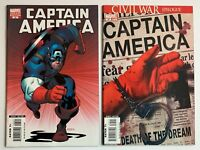 Captain America 25 Variant Lot Marvel 2007 1st Team Up Falcon Winter Soldier