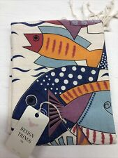 New listing Design Things Co - Islands Collection - Turkish Towel Cubic Fish beach Pool Aqua