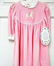 NWT Longsleeve  Velour Dress with Appliqued Horse on Bodice size 3T