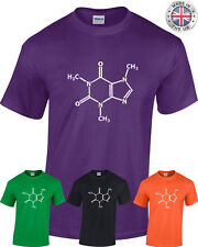 Big Bang Theory Coffee Molecule T-Shirt Caffeine Geek Nerd Tee RANGE OF COLOURS