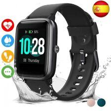 Vigorun Reloj Inteligente Pantalla Táctil Smartwatch para Hombre Mujer  (Negro)