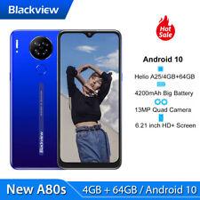 Blackview A80S Smartphone ohne Vertrag 4GB+64GB Android 10 Dual SIM Handy Blau