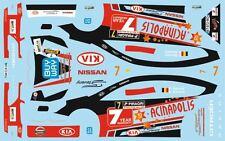 DECALS 1/43 CITROËN C4 WRC - #7 - STEVENY - RALLYE DE WALLONIE 2012 - D43372