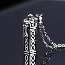Odin's Symbol Norse Viking Totem Pole Ashes Urn Capsule Pendant Necklace - UK