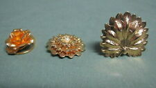 Tone for Scarf Decoration Lot of 3 Gold