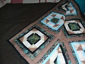 New Homemade Handstitched Comforter Quilt-Gorgeous