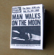 Dollshouse Miniature Newspaper -Daily Mirror- First man on the moon
