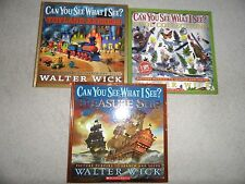 Lot of 3 Can You See What I See? Walter Wick Picture Puzzle Search Solve Books